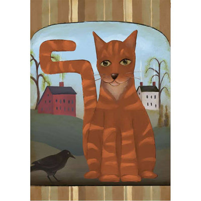 Country Tabby Brilliance House Flag