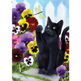 Flower Kitten House Flag