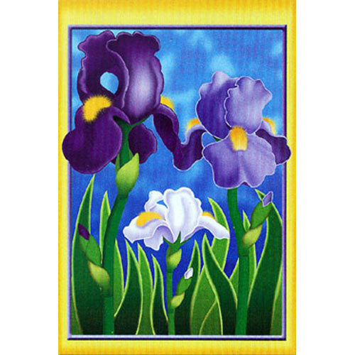 Enchanting Irises Brilliance House Flag
