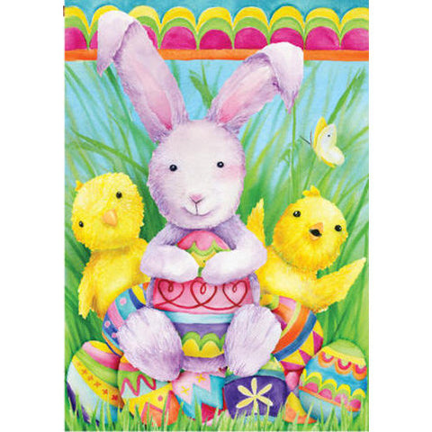 Bunny and Friends Illuminated Garden Flag