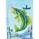 Bass Fishing Garden Flag
