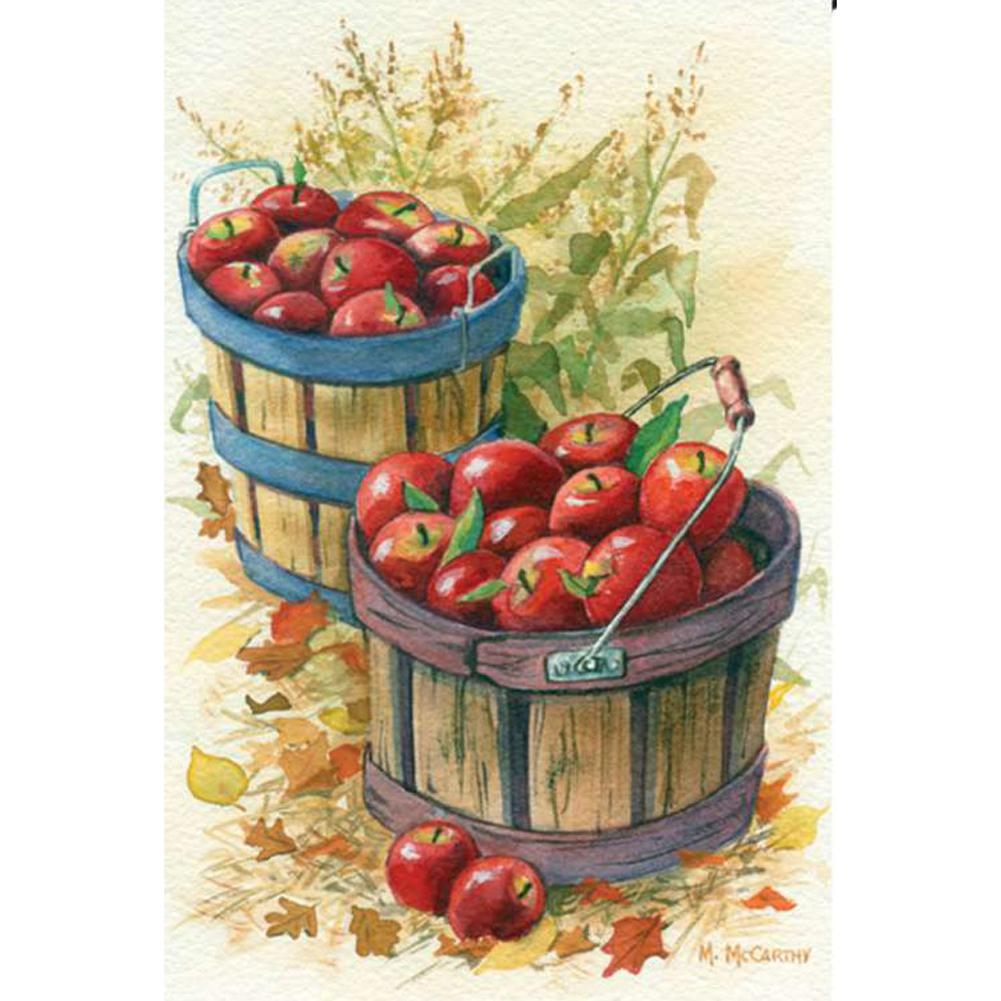 Apple Baskets Illuminated Garden Flag