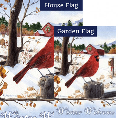 Cardinal Morning PremierSoft Double Sided Flags Set (2 Pieces)