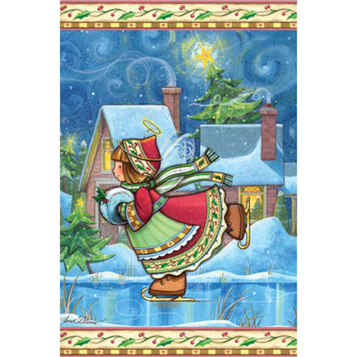 Winter Wonders Angel Illuminated Garden Flag