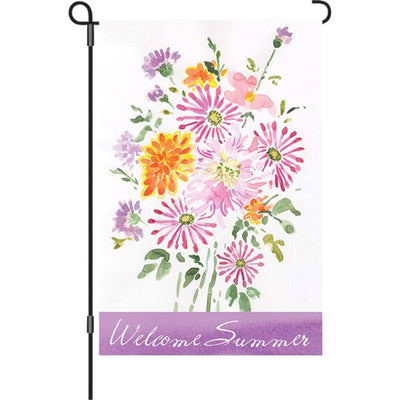 Summer Bouquet Welcome PremierSoft Double Sided Flags Set (2 Pieces)