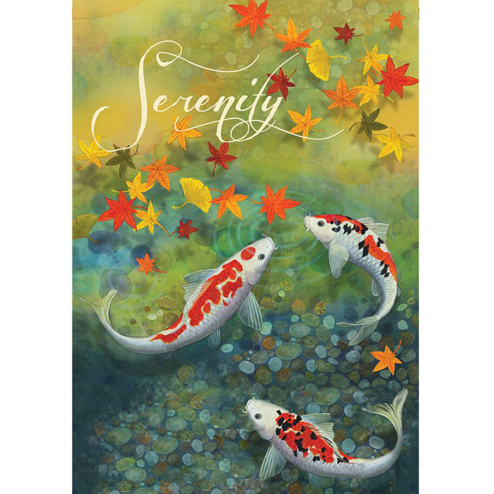 Autumn Pond PremierSoft Double Sided Garden Flag