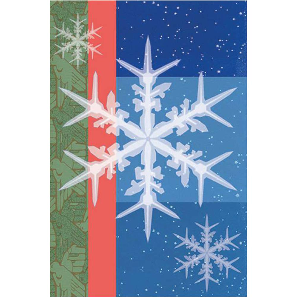 Snowflakes Illuminated Garden Flag
