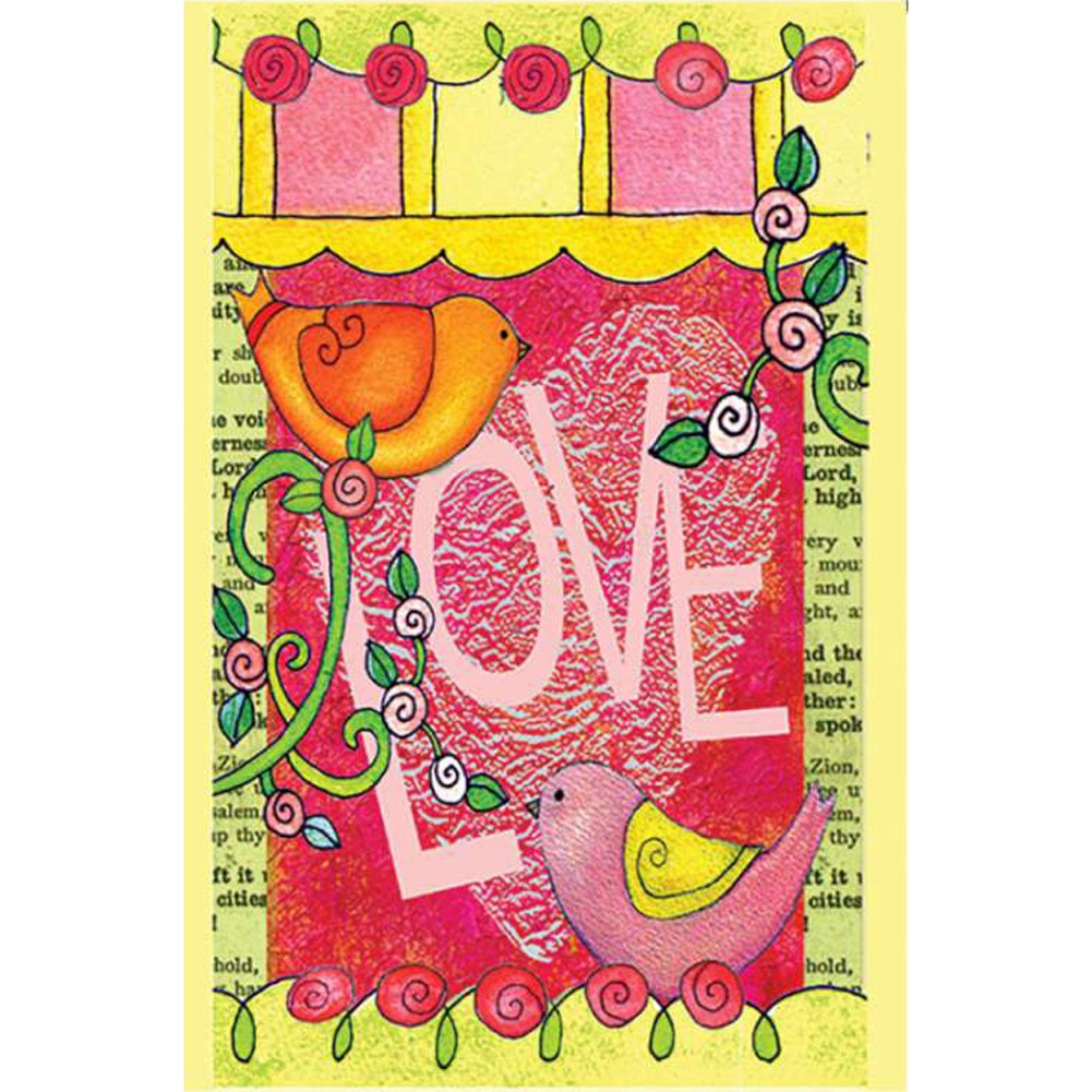 Love Always Birds PremierSoft Double Sided Garden Flag
