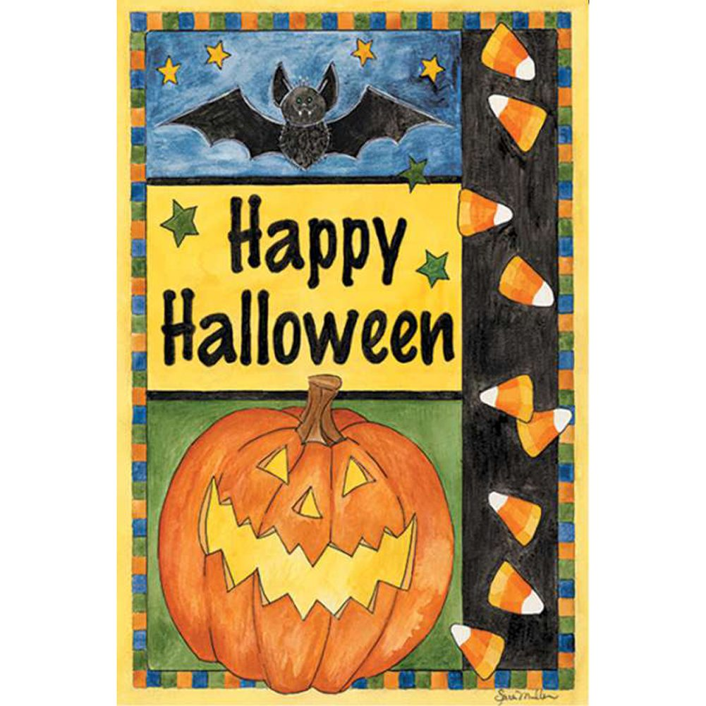 Halloween Smiles PremierSoft Double Sided Garden Flag