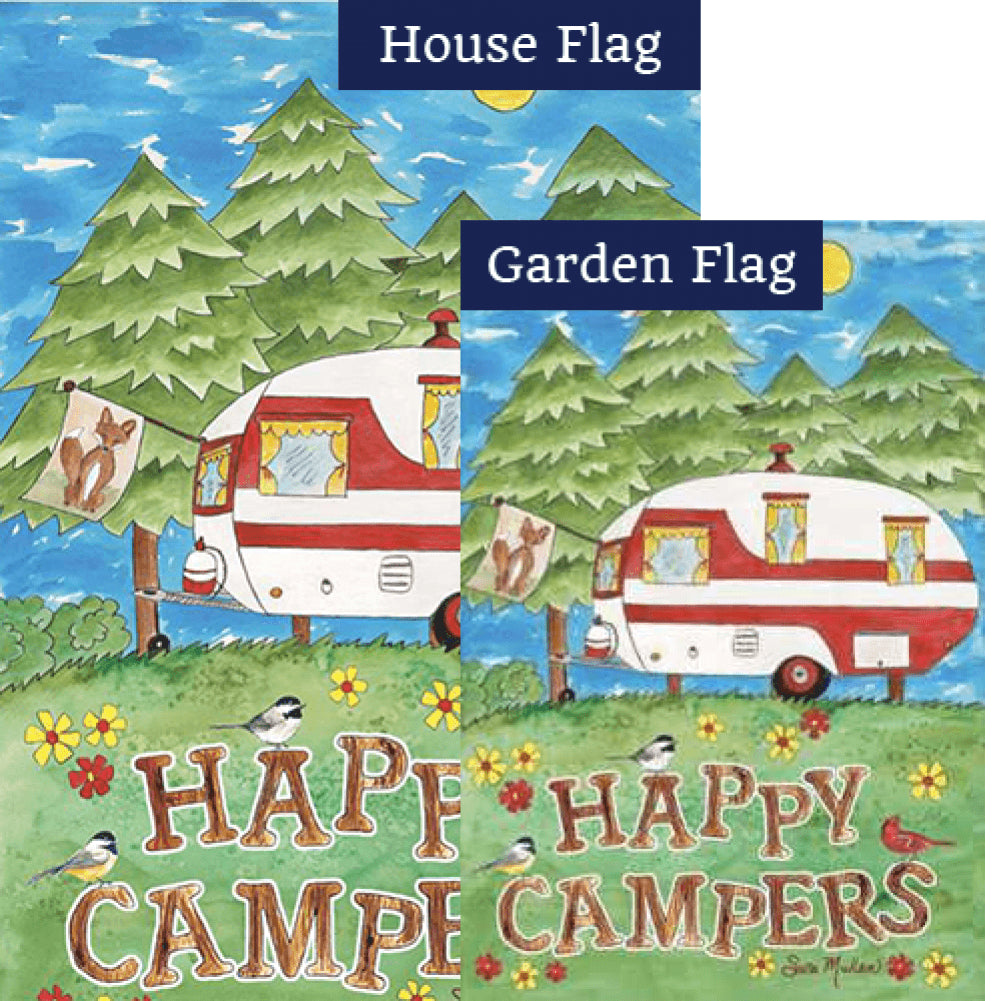 Camping Fun PremierSoft Double Sided Flags Set (2 Pieces)