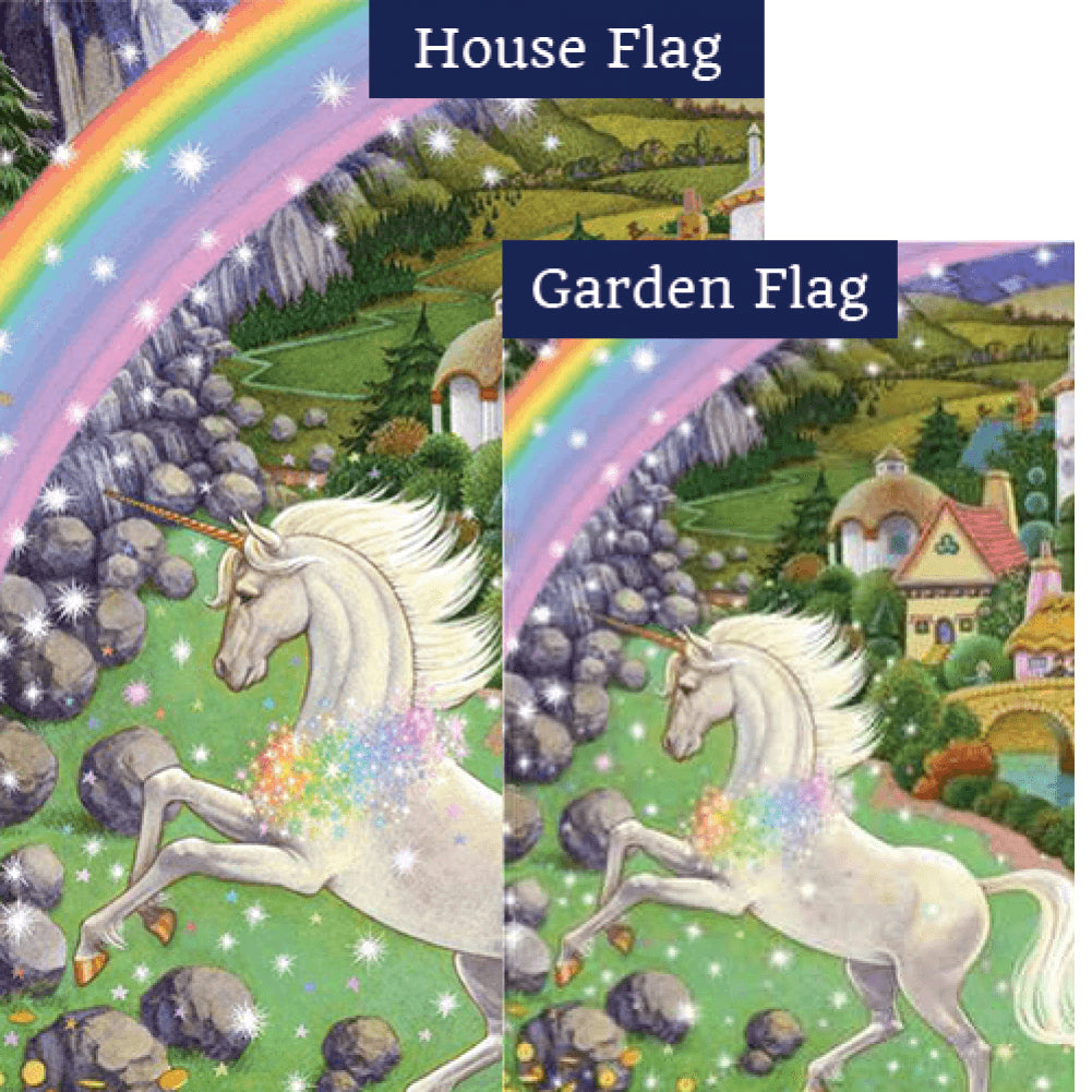 Unicorn Illuminated Flags Set (2 Pieces)