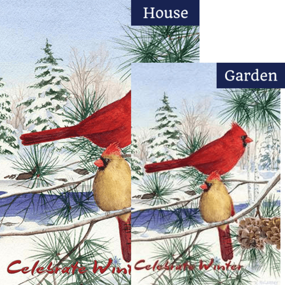 Cedar Farm Cardinals PremierSoft Double Sided Flags Set (2 Pieces)