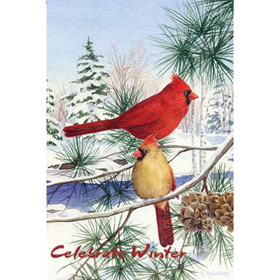 Cedar Farm Cardinals PremierSoft Double Sided Garden Flag