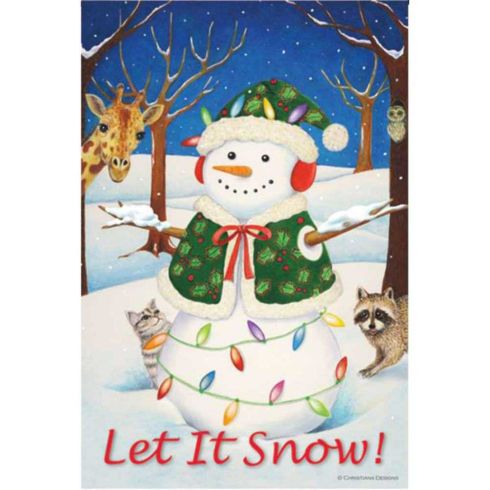 Hey Here's Snow! PremierSoft Double Sided Garden Flag