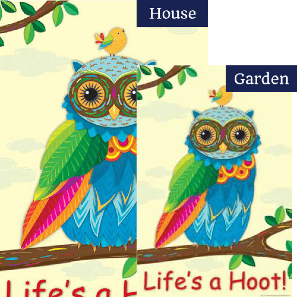 Life's A Hoot PremierSoft Double Sided Flags Set (2 Pieces)