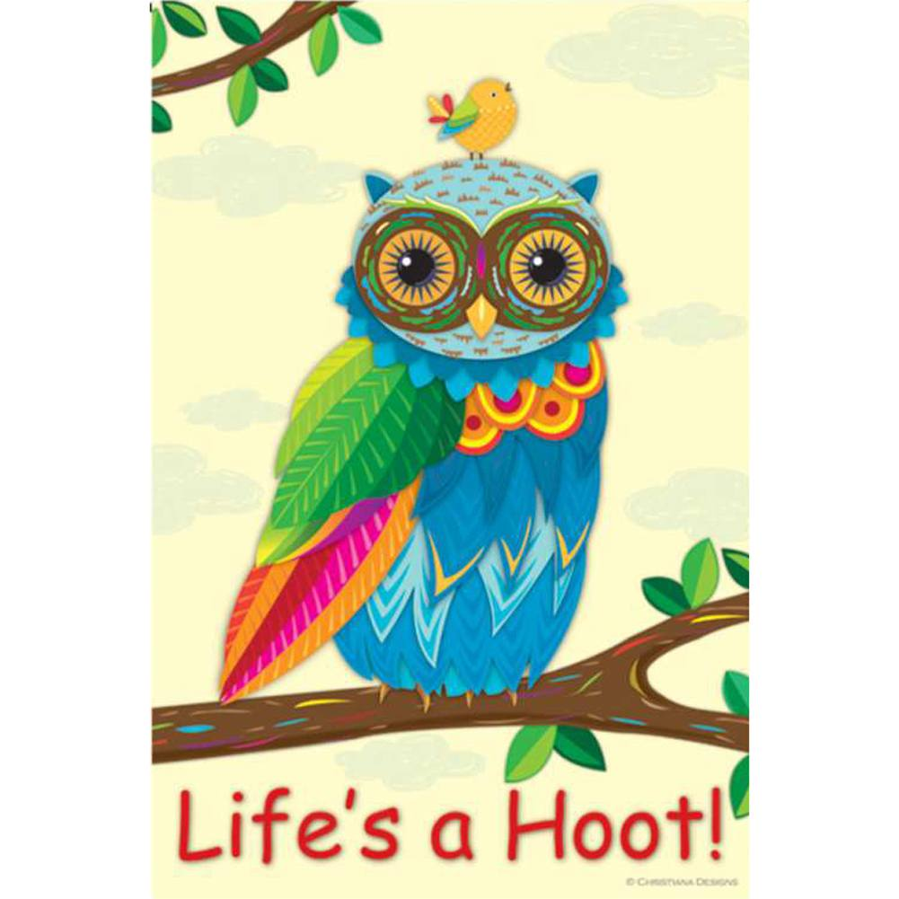 Life's A Hoot PremierSoft Double Sided Garden Flag