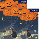 Black Cats With Balloons Illuminated Flags Set (2 Pieces)
