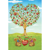 Love Grows Squirrels PremierSoft Double Sided Garden Flag