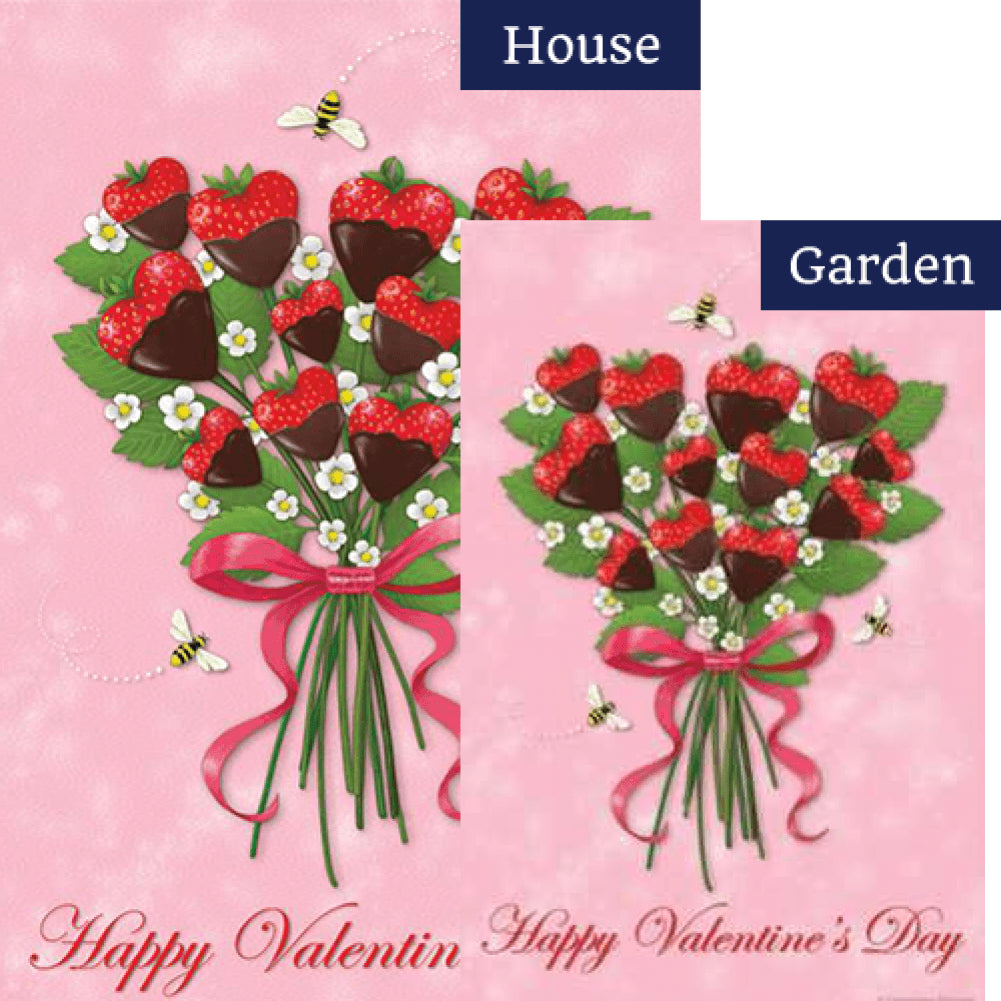 Strawberry Bouquet PremierSoft Double Sided Flags Set (2 Pieces)