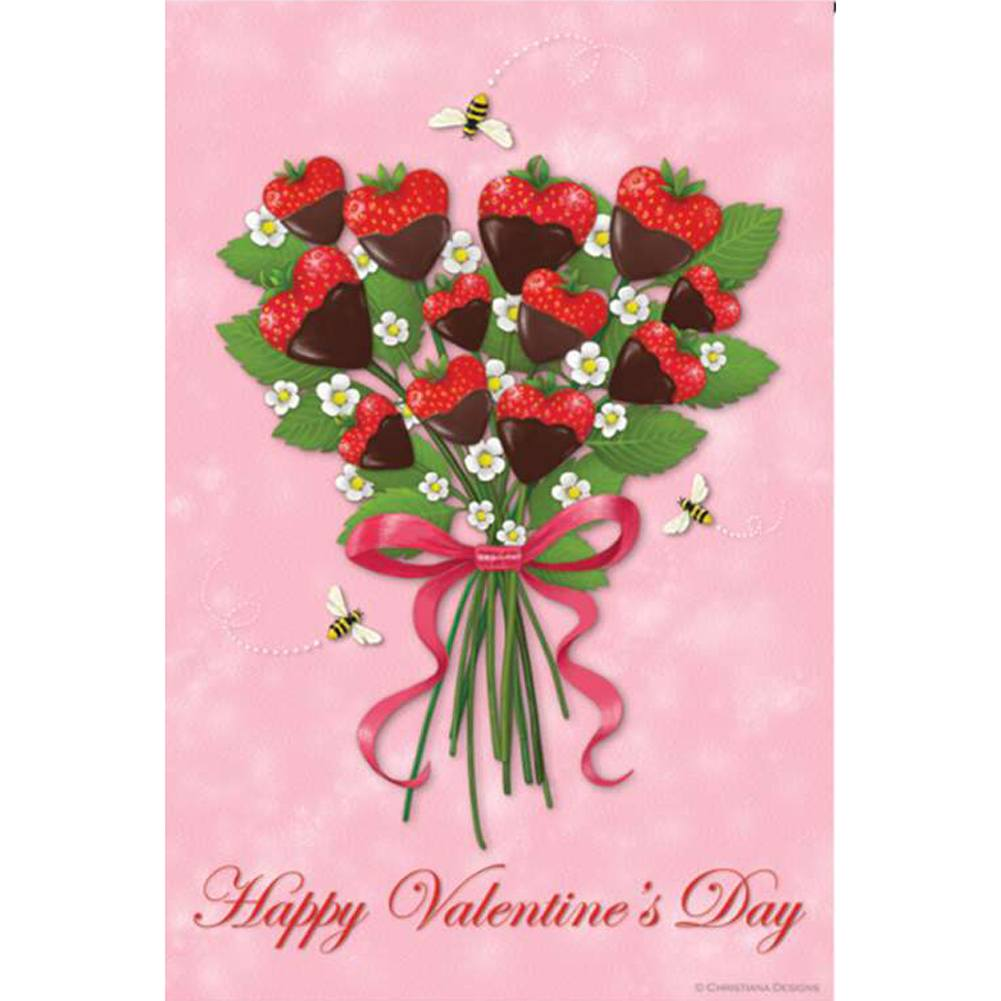 Strawberry Bouquet PremierSoft Double Sided Garden Flag