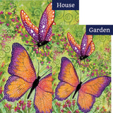 Butterfly Sparkles Illuminated Flags Set (2 Pieces)