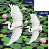 Egret Elegance Illuminated Flags Set (2 Pieces)