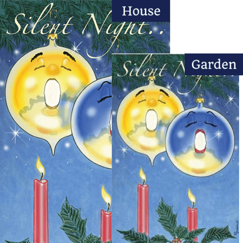 Silent Night Ornaments PremierSoft Double Sided Flags Set (2 Pieces)