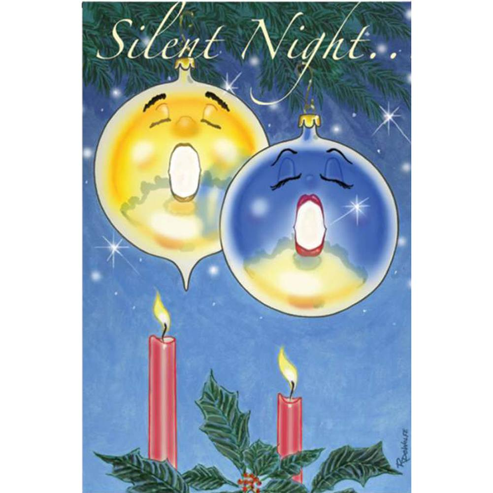 Silent Night Ornaments PremierSoft Double Sided Garden Flag