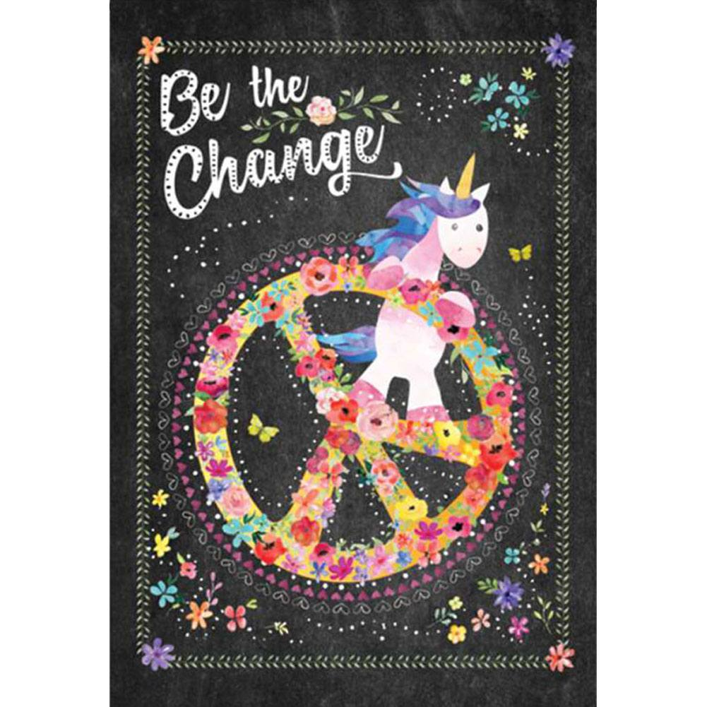Be The Change PremierSoft Double Sided Garden Flag