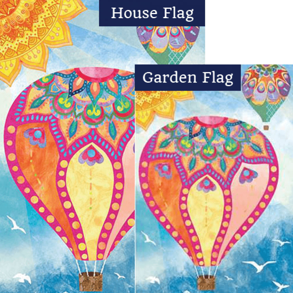 Hot Air Balloons Flags Set (2 Pieces)