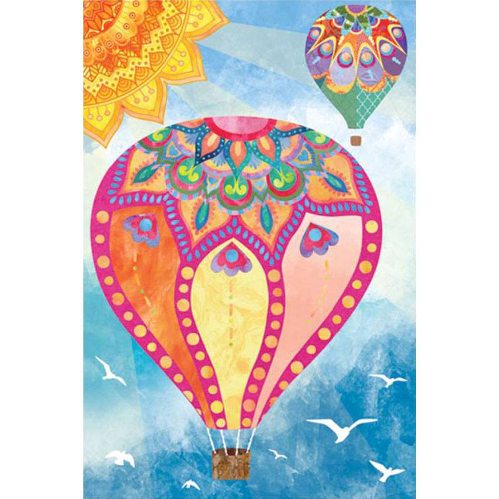 Hot Air Balloon Illuminated Garden Flag