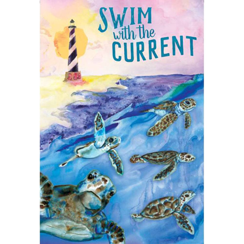 Swim With The Current PremierSoft Double Sided Garden Flag