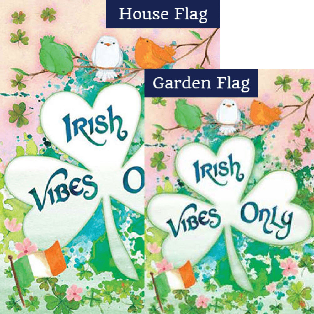 Irish Vibes Only Double Sided Flags Set (2 Pieces)