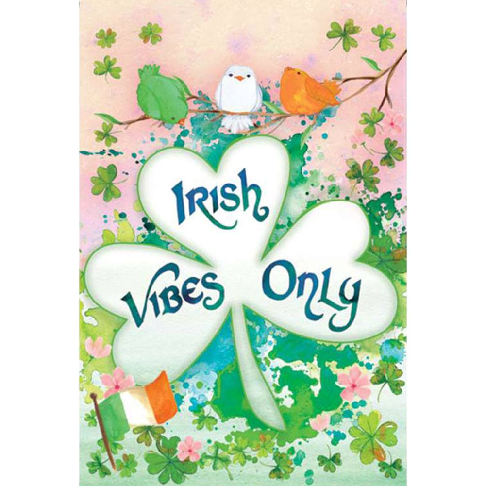 Irish Vibes Only PremierSoft Double Sided Garden Flag