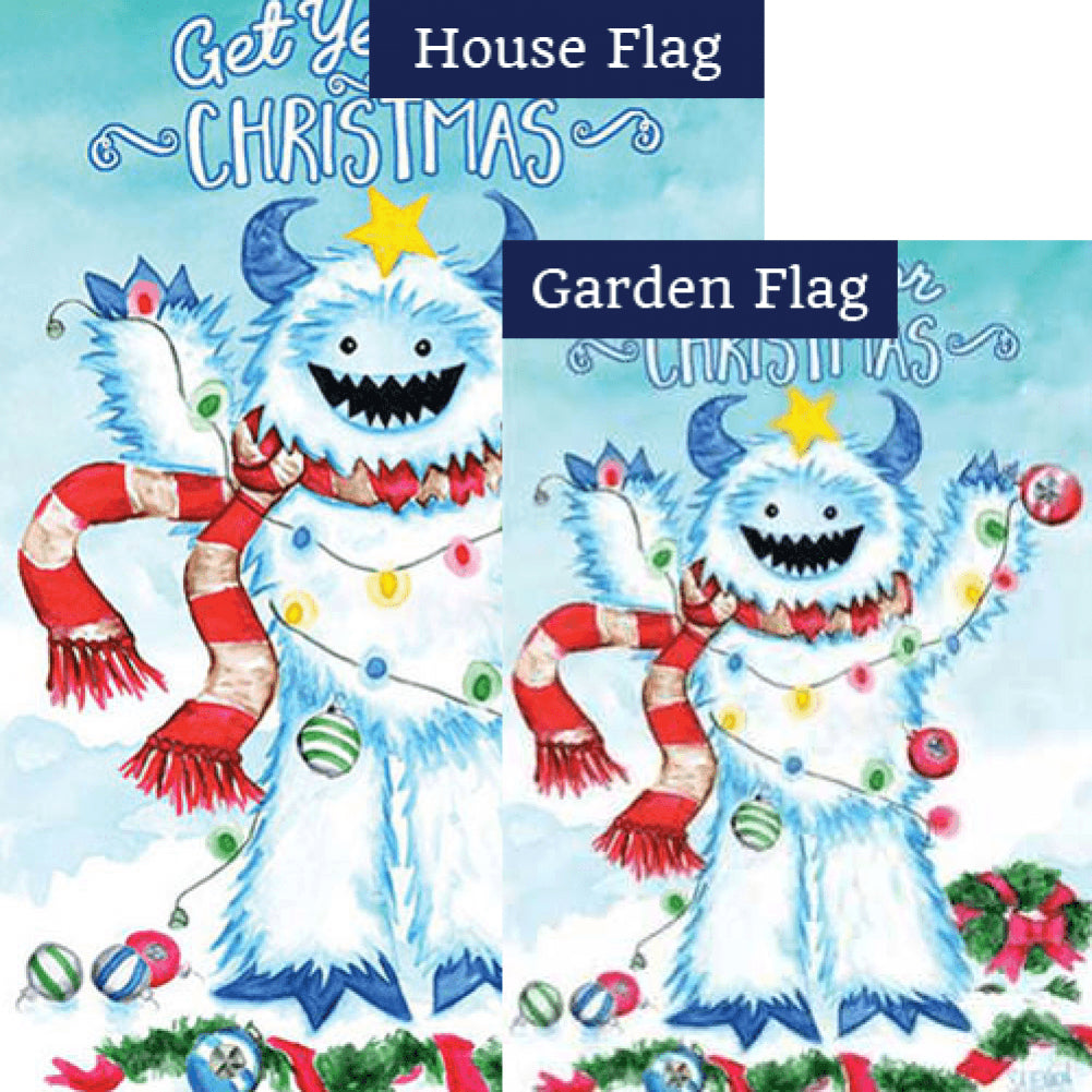 Get Yeti For Christmas Double Sided Flags Set (2 Pieces)