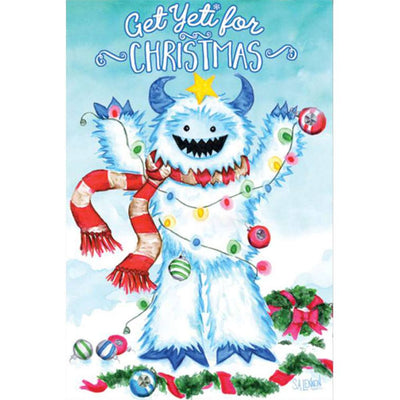 Get Yeti For Christmas PremierSoft Double Sided Garden Flag
