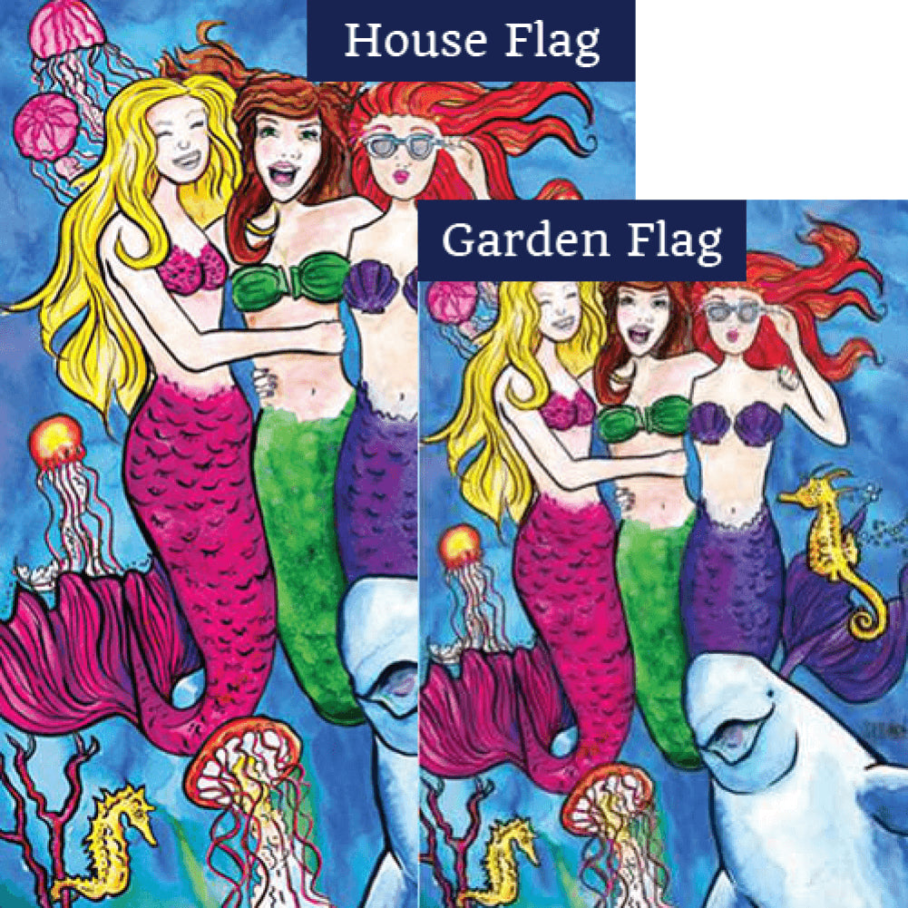 Mermaidsquad Flags Set (2 Pieces)