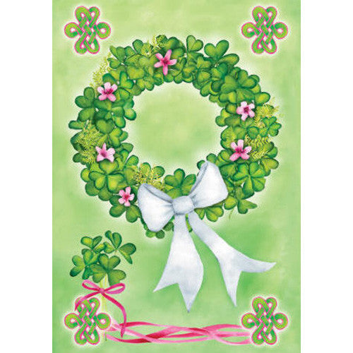 Shamrock Wreath Illuminated House Flag