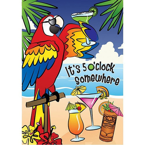 5 O'Clock Somewhere PremierSoft Double Sided House Flag