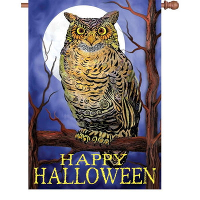 Owl and Moon PremierSoft Double Sided House Flag
