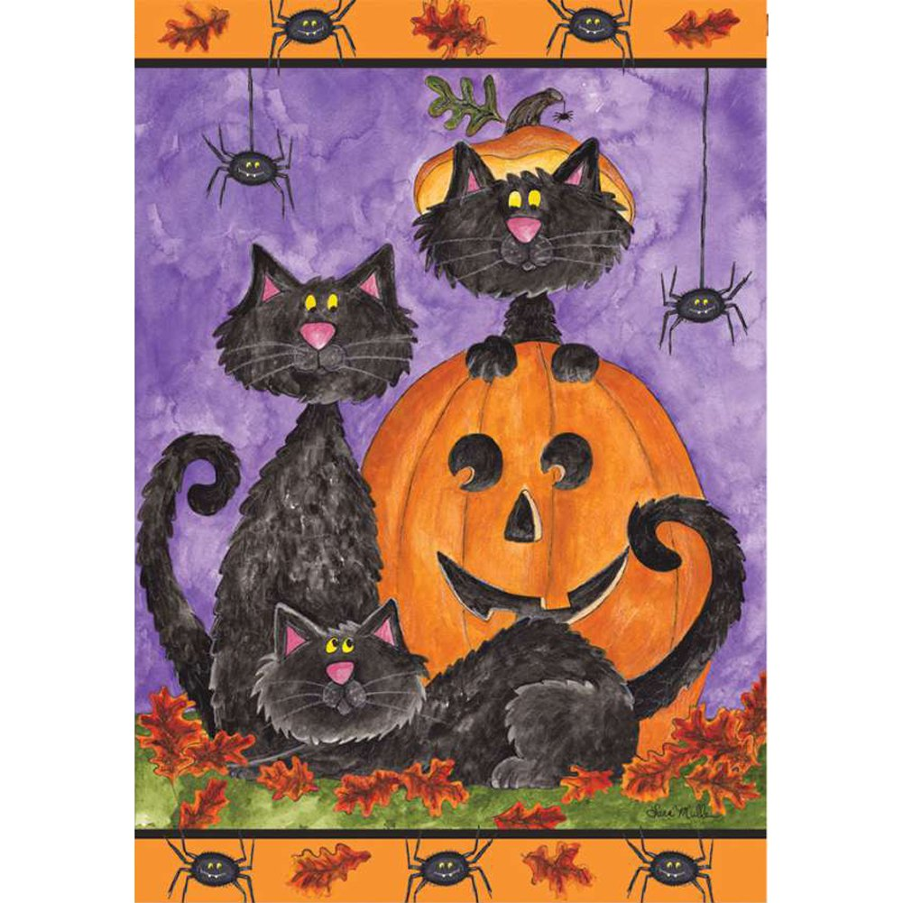 Three Black Cats Brilliance House Flag