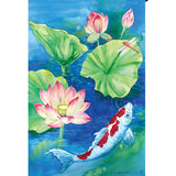 Lotus Koi Illuminated House Flag