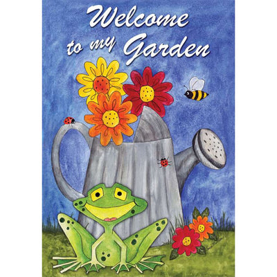 Welcome To My Garden PremierSoft Double Sided House Flag