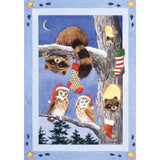 Woodland Stocking Illuminated House Flag