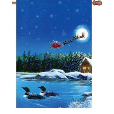 Christmas Loons Illuminated House Flag