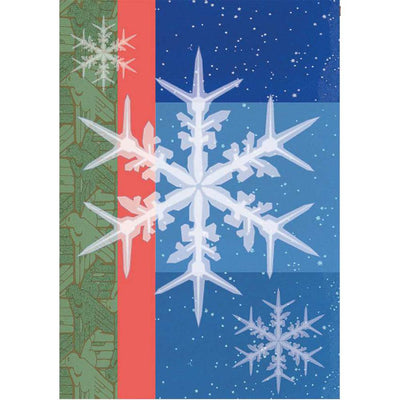 Snowflakes Illuminated House Flag
