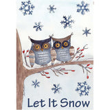 Owls In The Snow PremierSoft House Flag