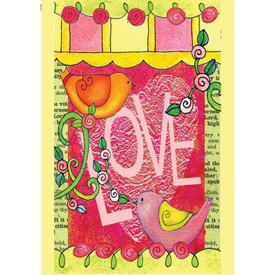Love Always Birds PremierSoft Double Sided House Flag