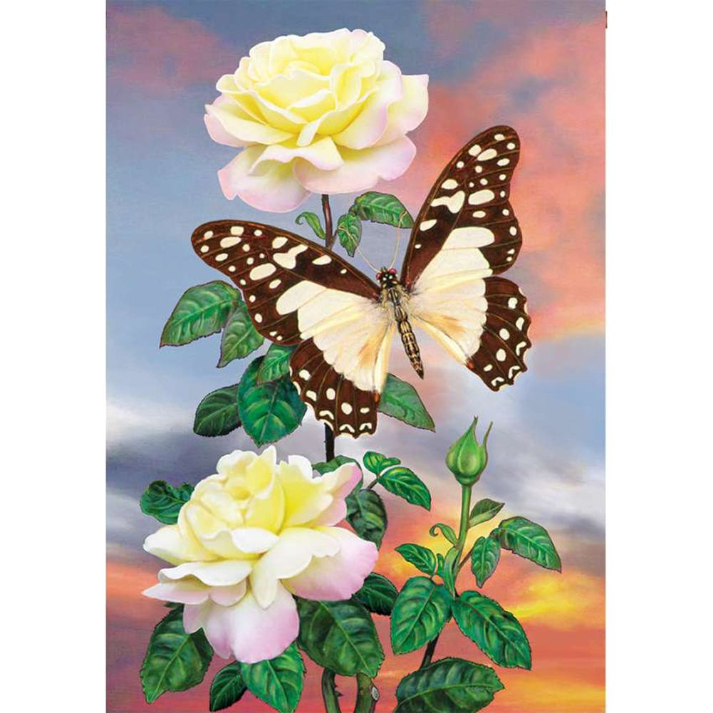 White Lady Swallowtail Illuminated House Flag