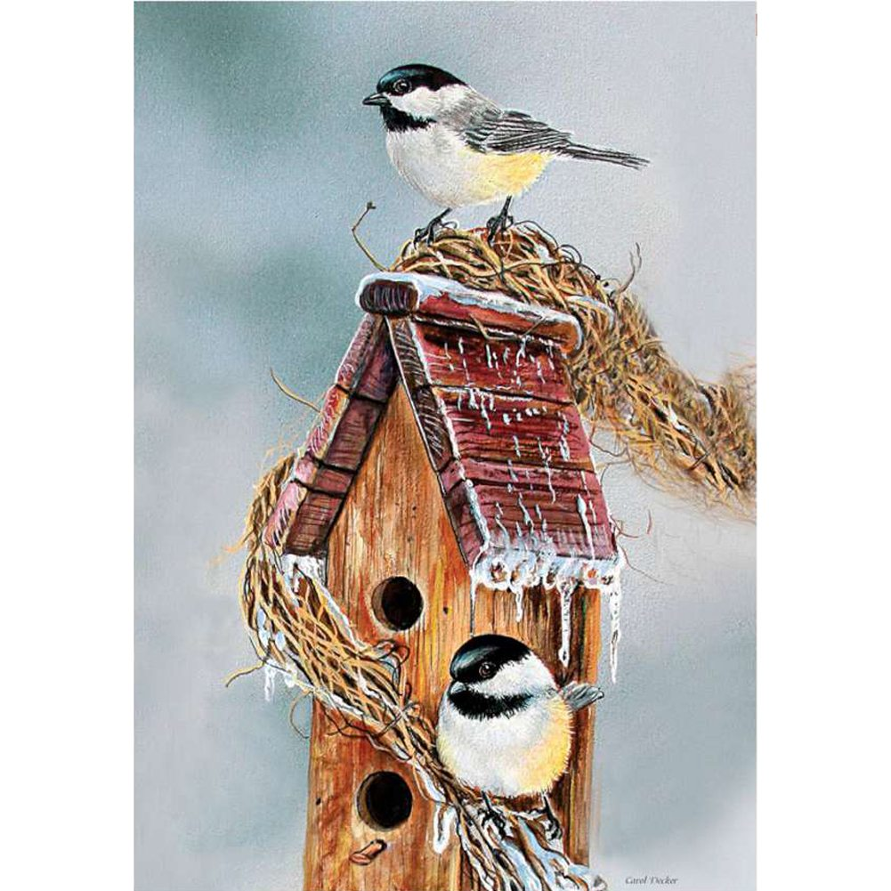 Early Bird Chickadee Illuminated House Flag